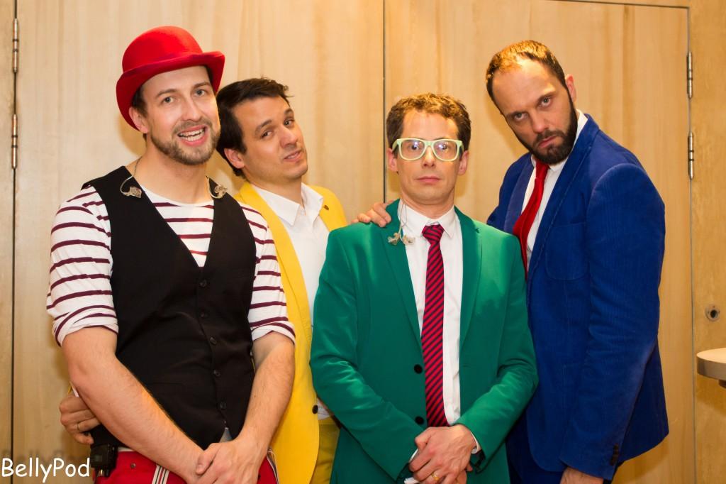 """Die """"Jungs"""" von Maybebop: (v.l.) Lukas Teske, Jan Malte Bürger, Oliver Gies und Sebastian Schröder. Hier nach ihrem Konzert in Limburg im November 2013."""