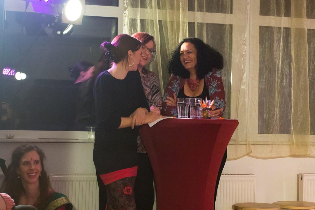 Die Prüferinnen Nadine Bernhard, Heike Kuhaupt und Abeer Will hatten sichtlich Spaß an ihrer Aufgabe.